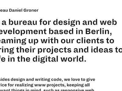 Bureau Daniel Groner
