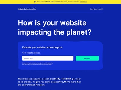 Website Carbon Calculator
